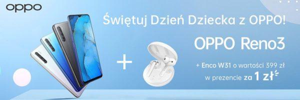 Bezprzewodowe słuchawki TWS OPPO Enco W31 debiutują w super zestawie ze smartfonem OPPO Reno3