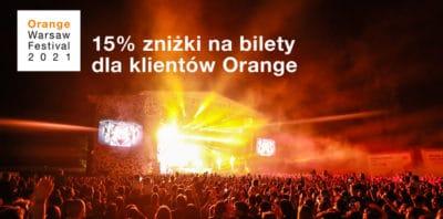 Bilety na Orange Warsaw Festival z 15% zniżką dla klientów Orange