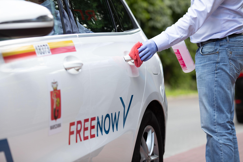 Dezynfekcja kierowca FREE NOW