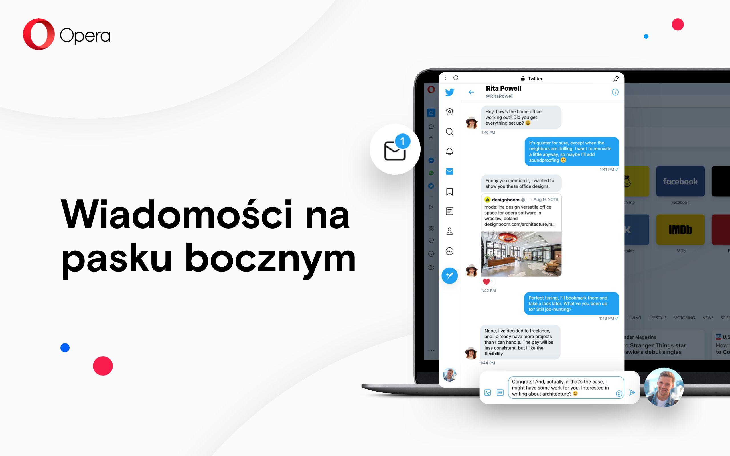 Opera dodaje wbudowanego Twittera na pasku bocznym