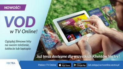 Startuje nowa usługa Vectry – VOD w TV Online
