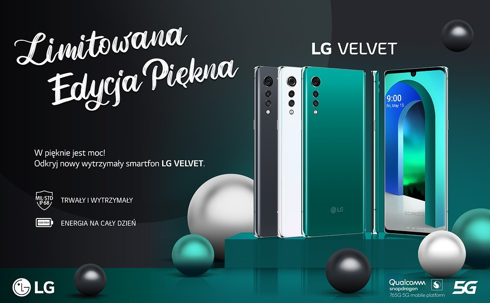 LG VELVET dostępny już w Polsce w limitowanych promocjach