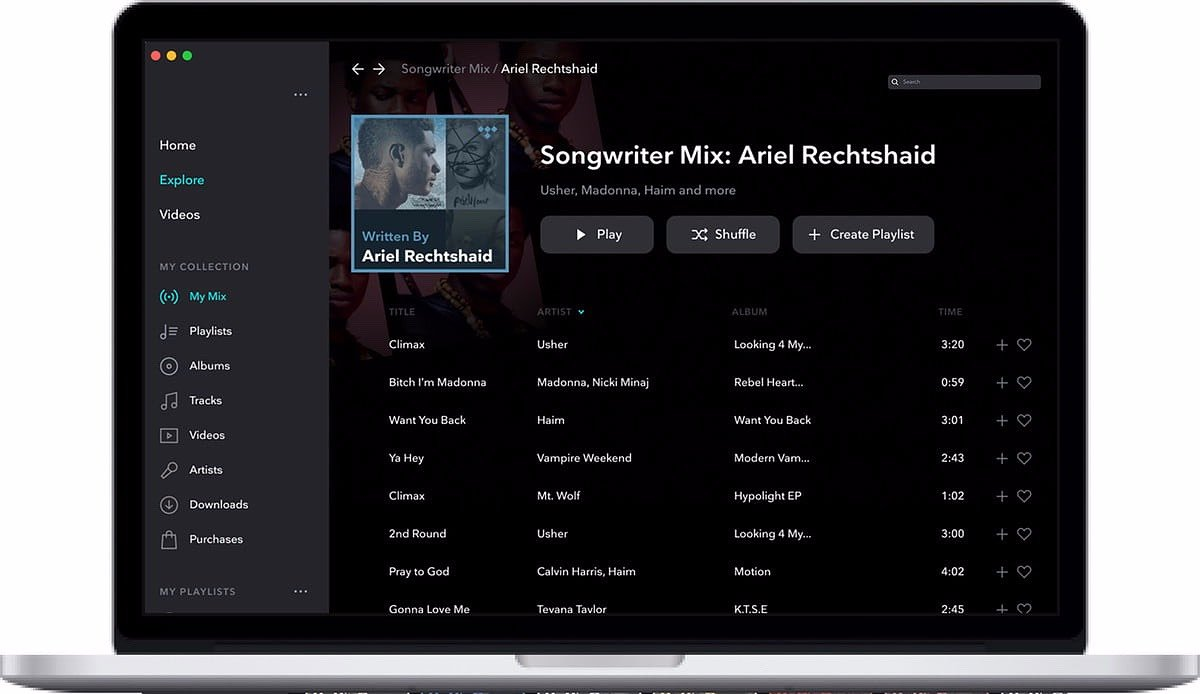 Nowa funkcja – Contributor Mix w TIDAL