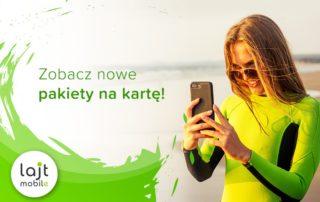 Lajt Mobile wprowadził nową ofertę na kartę