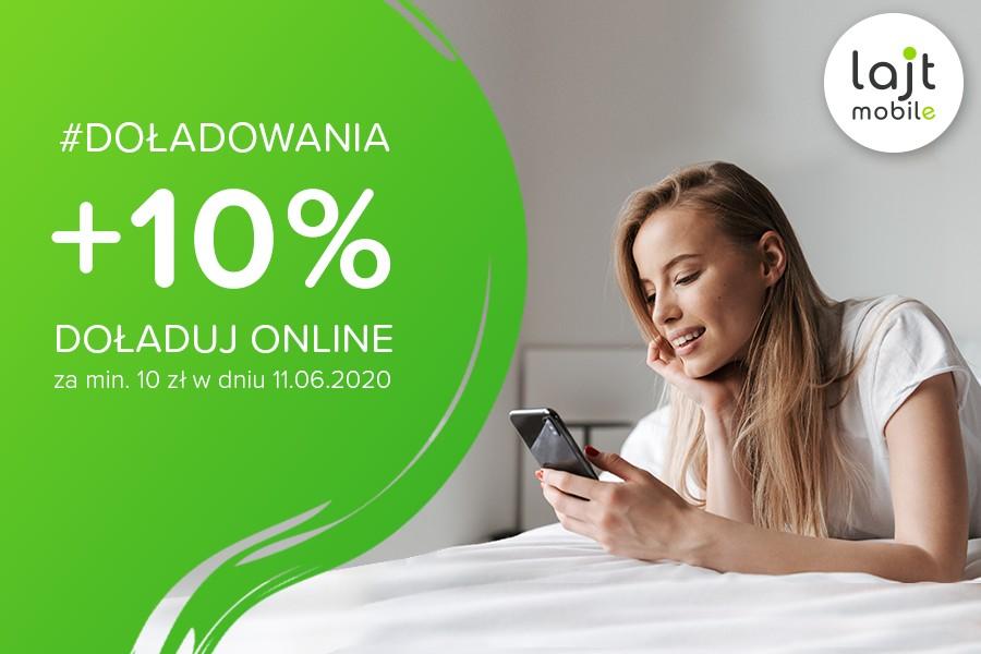 Lajt mobile - promocja doładowań +10%