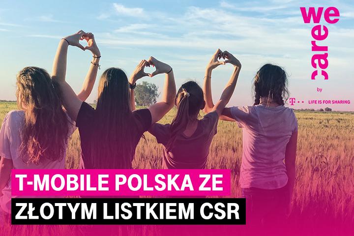 T-Mobile Polska nagrodzony najwyższym wyróżnieniem w konkursie Listki CSR