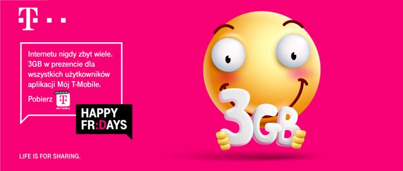 """Darmowe 3 GB w aplikacji """"Mój T-Mobile"""""""