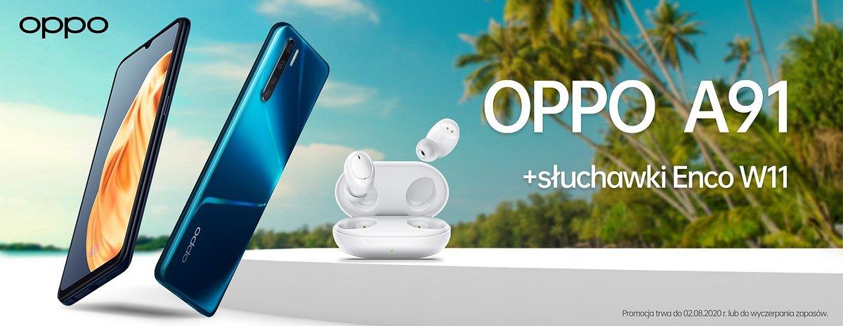 OPPO prezentuje nowe słuchawki TWS – Enco W11, w zestawie ze smartfonem OPPO A91