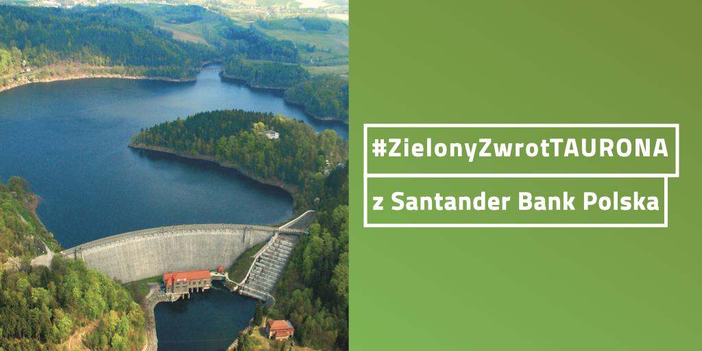 Prąd z elektrowni wodnych TAURONA płynie do Santander Bank Polska