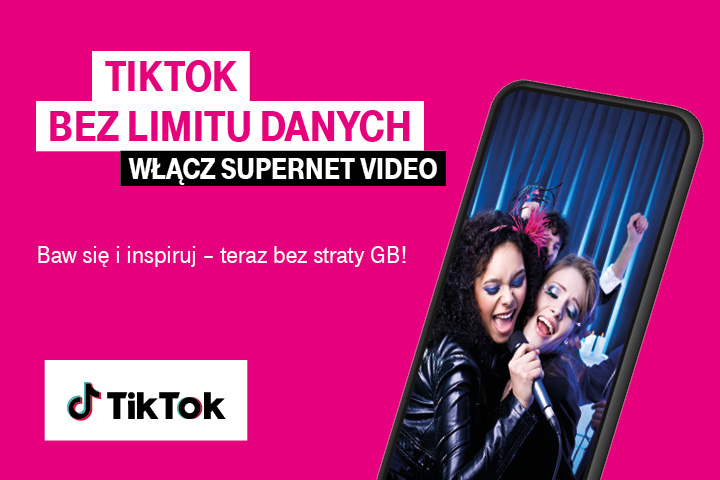 TikTok bez limitów w Supernet Video od T-Mobile