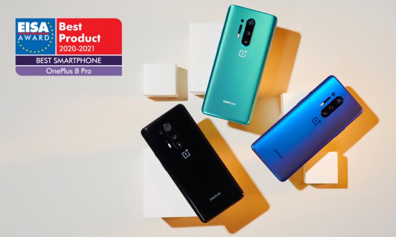 OnePlus 8 Pro zdobywa nagrodę EISA dla najlepszego smartfona roku w latach 2020–2021