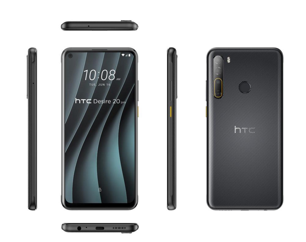 HTC Desire 20 pro   onyx black   all angles
