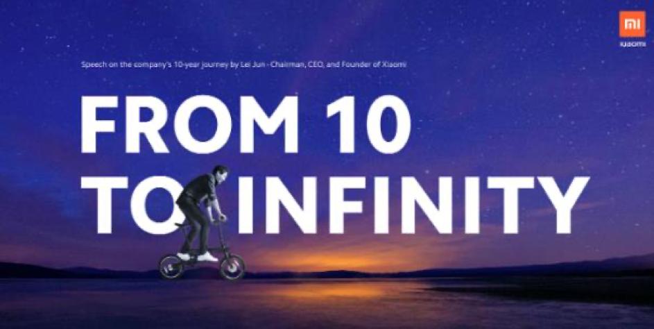 Od 10 do nieskończoności   urodziny Xiaomi