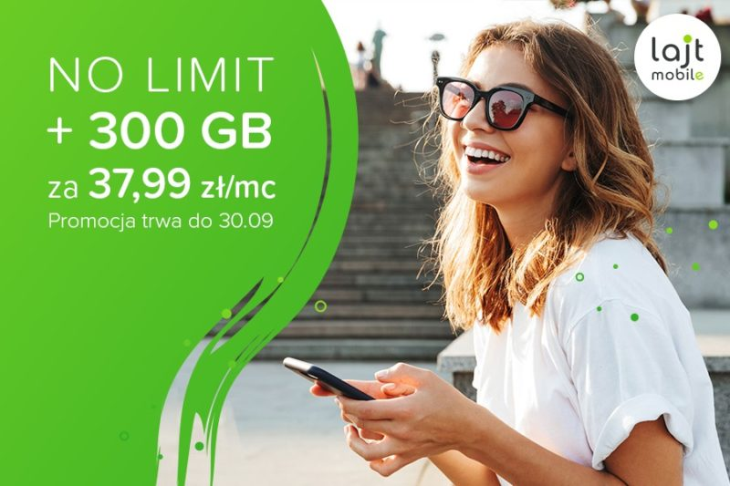 """Lajt mobile - przedłużenie promocji """"No Limit"""""""