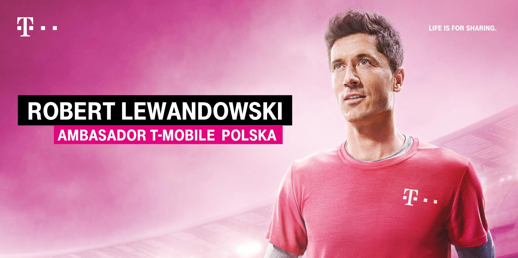 Robert Lewandowski ambasadorem T-Mobile Polska
