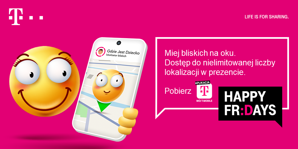 usluga gdzie jest dziecko bezplatnie w t mobile na 30 dni 2