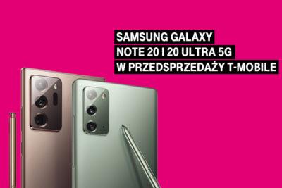 Samsung Galaxy Note20 5G i Note20 Ultra 5G w przedsprzedaży T‑Mobile
