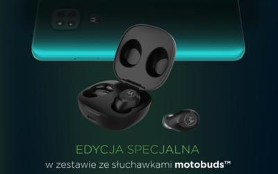 Zestaw Motorola moto g9 play ze słuchawkami motobuds tylko w Plusie