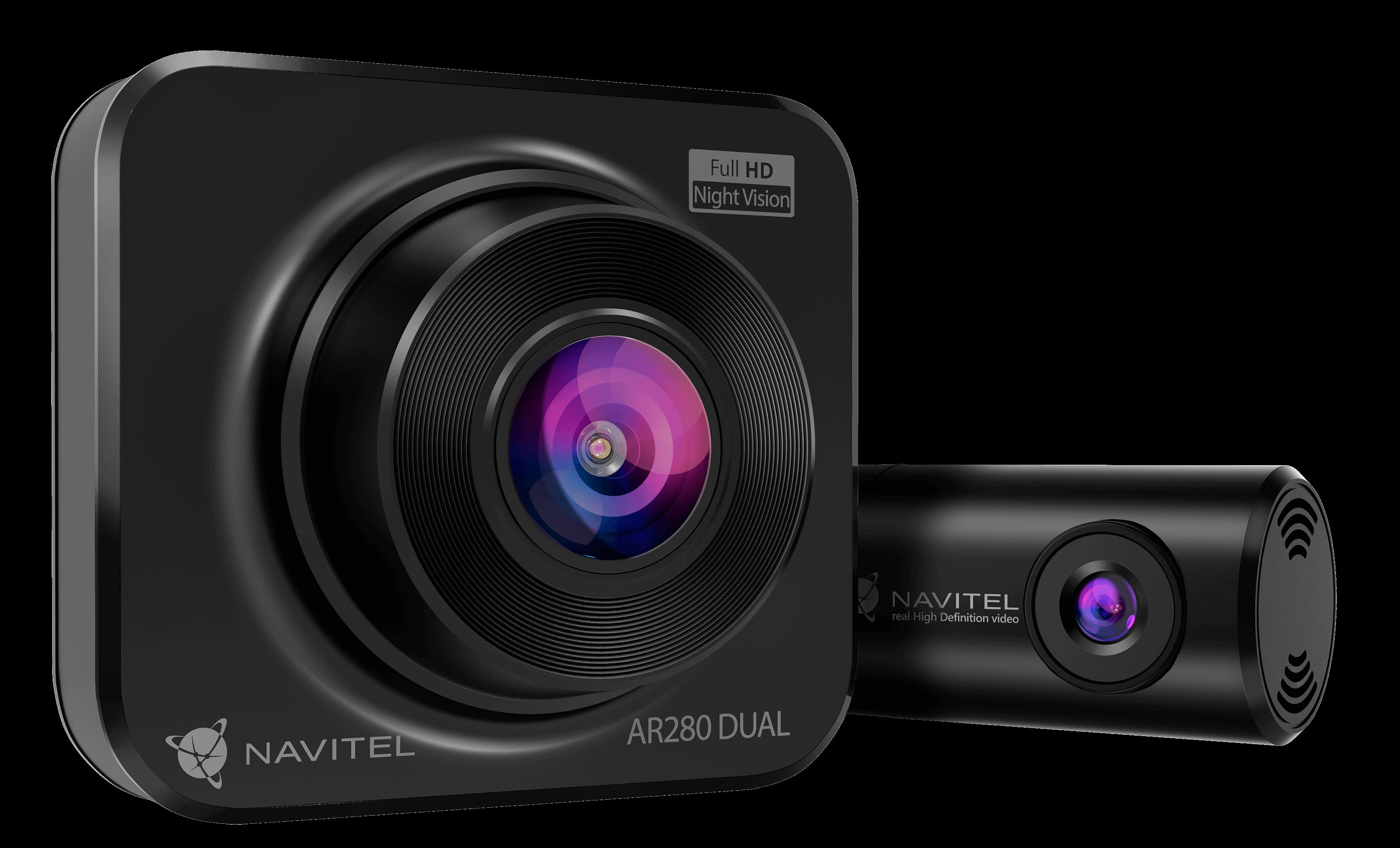 NAVITEL AR280 DUAL – wideorejestrator z sensorem night vision i tylną kamerą