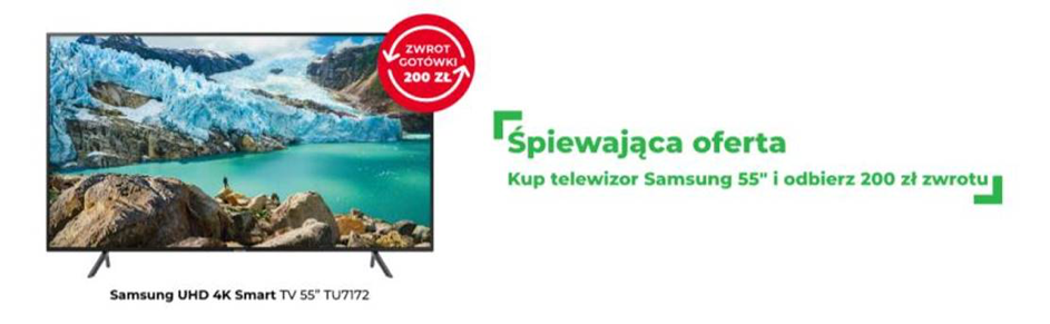 "Telewizor Samsung UHD 4K Smart TV 55"" TU7172"