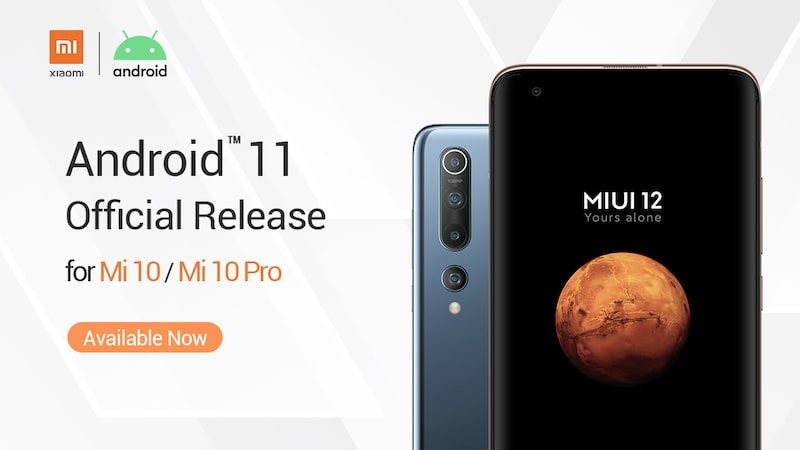Android™ 11 na smartfonach serii Mi 10 – Mi 10 oraz Mi 10 Pro