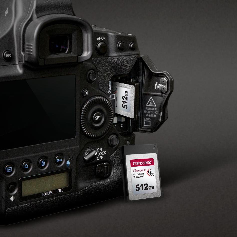 Superszybka karta pamięci do dynamicznej fotografii i filmowania od TRANSCEND small