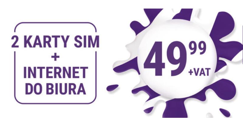 Dwie karty SIM i nielimitowany internet do biura za 49,99 zł w Play dla Firm