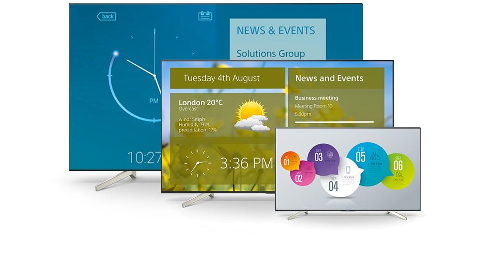 Sony wprowadza cztery monitory profesjonalne BRAVIA BZ40H do zastosowań biurowych