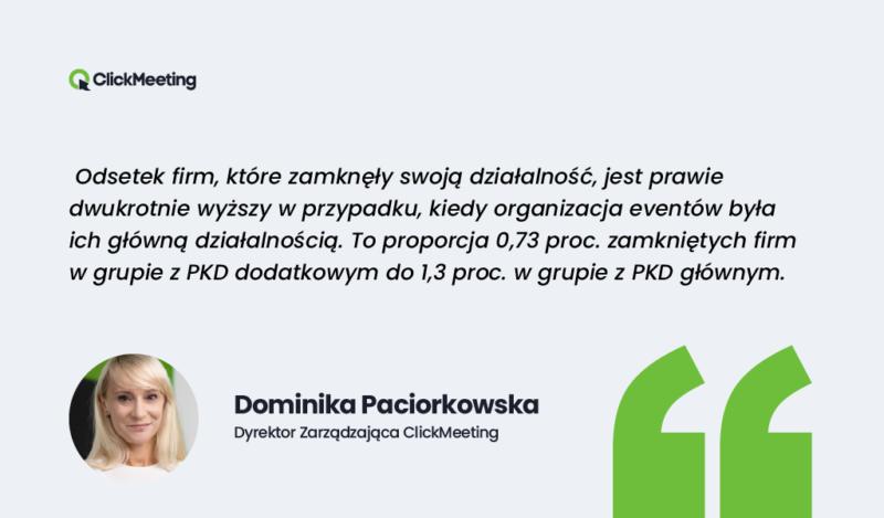 Dominika Paciorkowska   wypowiedz