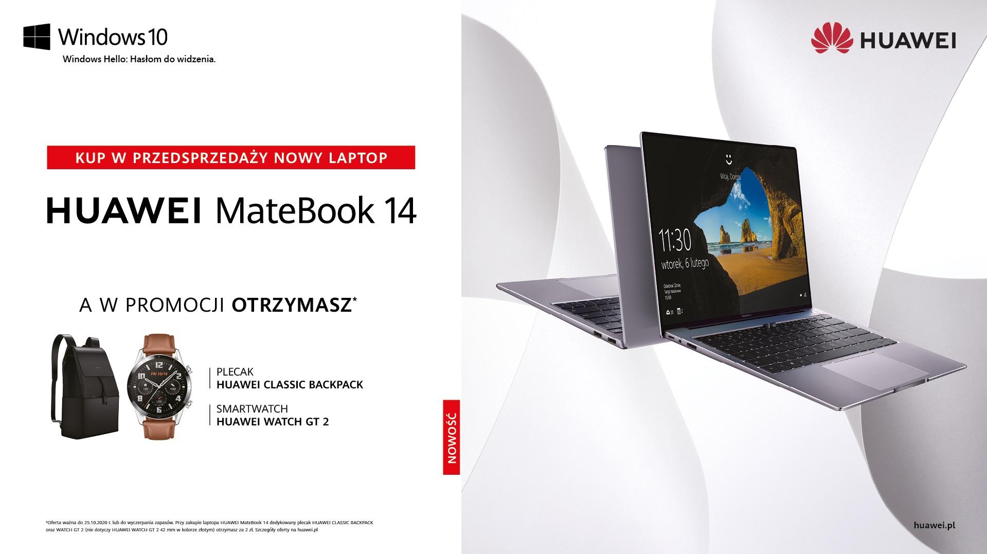 MateBook 14 oferta w przedsprzedaży