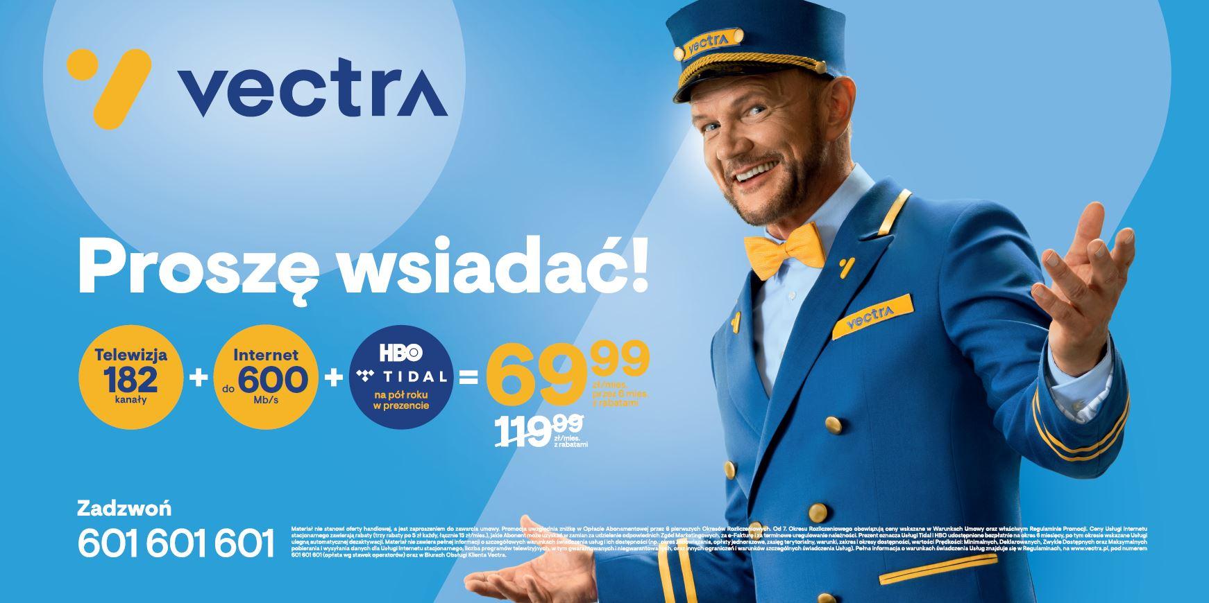 Vectra prezentuje nową ofertę z usługami Smart – startuje kampania z udziałem Cezarego Pazury