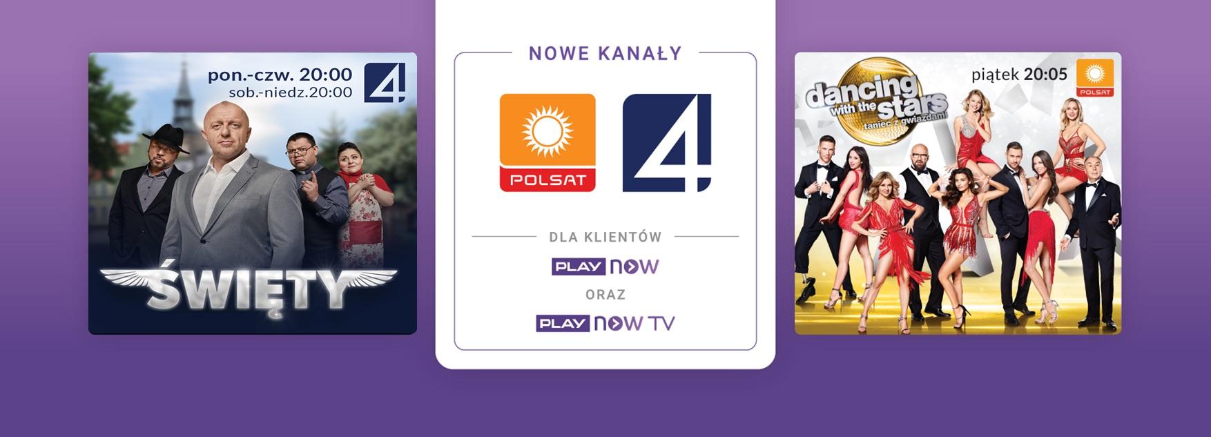 Polsat oraz TV4 dołączają do oferty PLAY NOW i PLAY NOW TV
