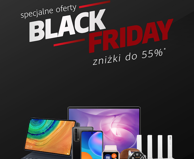 Zniżki do 55% – Black Friday w Huawei