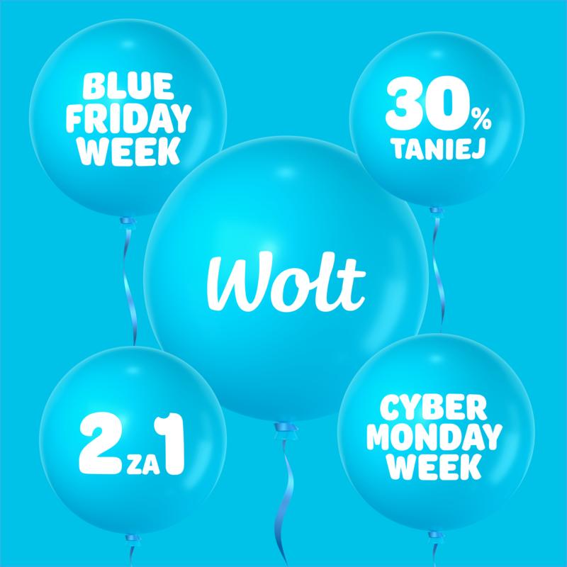 Wolt promocje Blue Friday Week i Blue Cyber Week