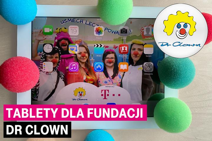 """T-Mobile przekazuje tablety do terapii śmiechem online Fundacji """"Dr Clown"""""""