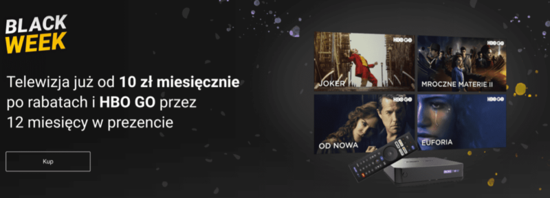 BLACK WEEK – PLAY NOW TV z HBO GO na 12 miesięcy w prezencie