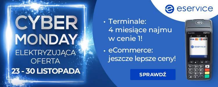 Terminale płatnicze bez opłat i nowoczesna bramka płatnicza eService w elektryzującej ofercie z okazji Black Friday i Cyber Monday