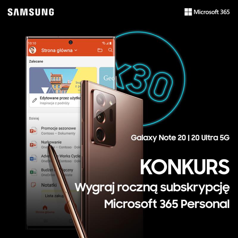 Weź udział w konkursie Samsung i zgarnij kody na supermoc do pracy i po pracy