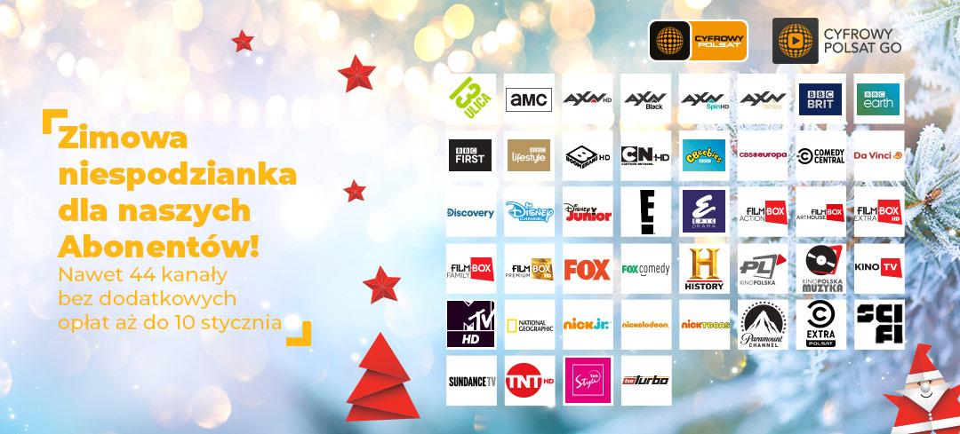 """Zimowa niespodzianka od Cyfrowego Polsatu i IPLI. Nawet 44 dodatkowe kanały w """"otwartym oknie"""""""