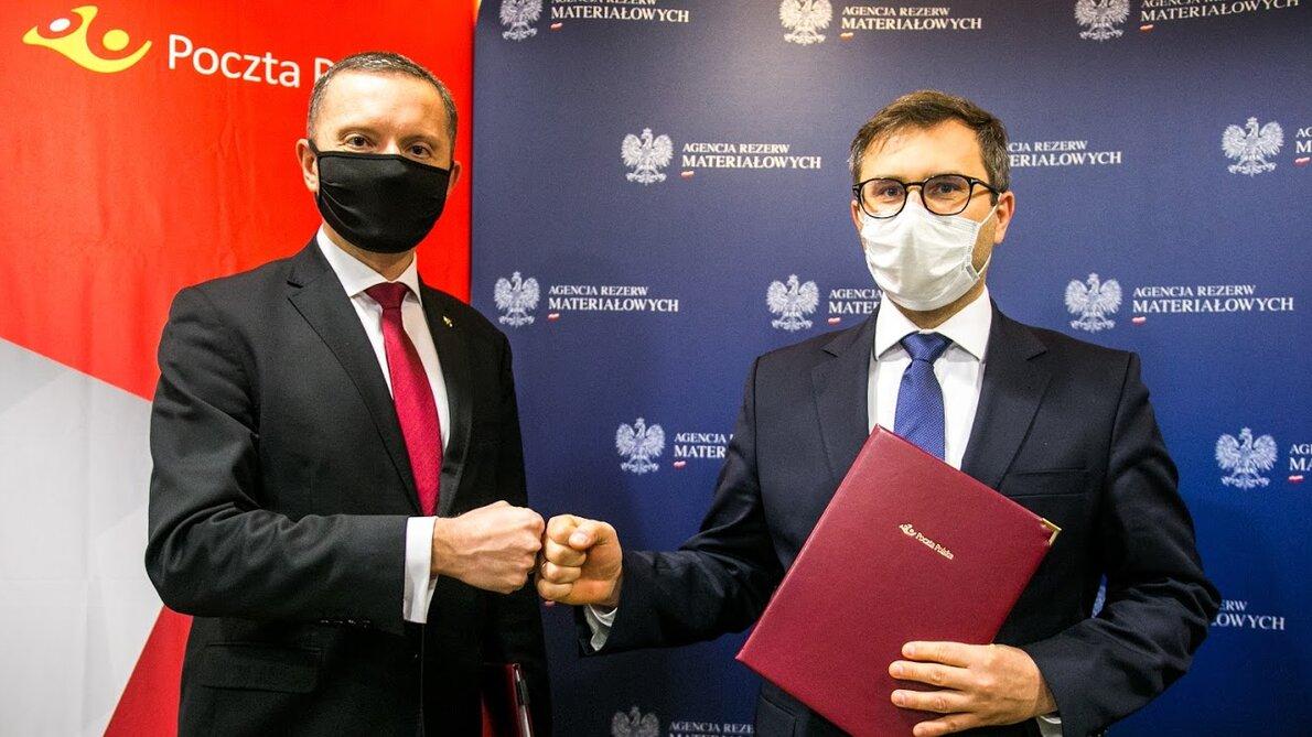 Poczta Polska podpisała porozumienie z Agencją Rezerw Materiałowych
