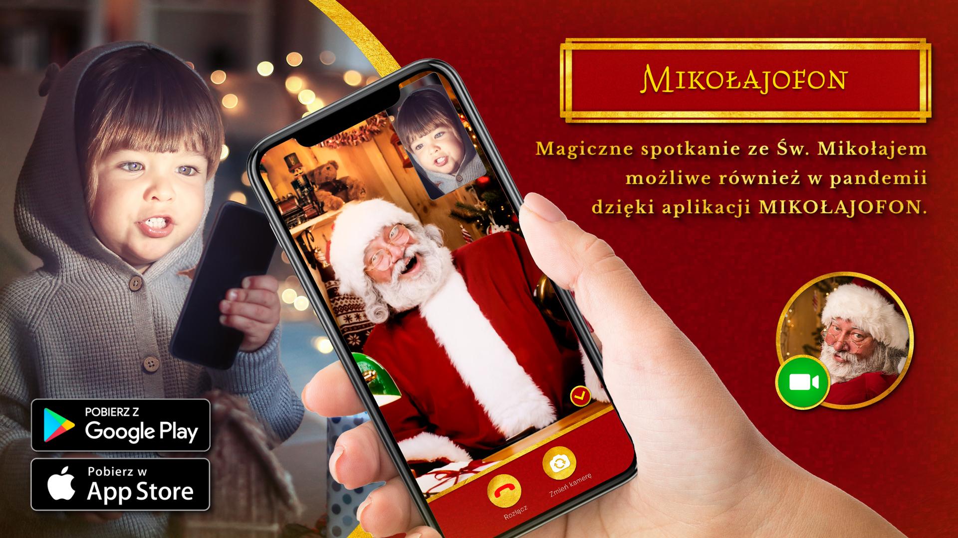 Magiczne spotkanie ze Świętym Mikołajem możliwe również w pandemii – dzięki aplikacji Mikołajofon