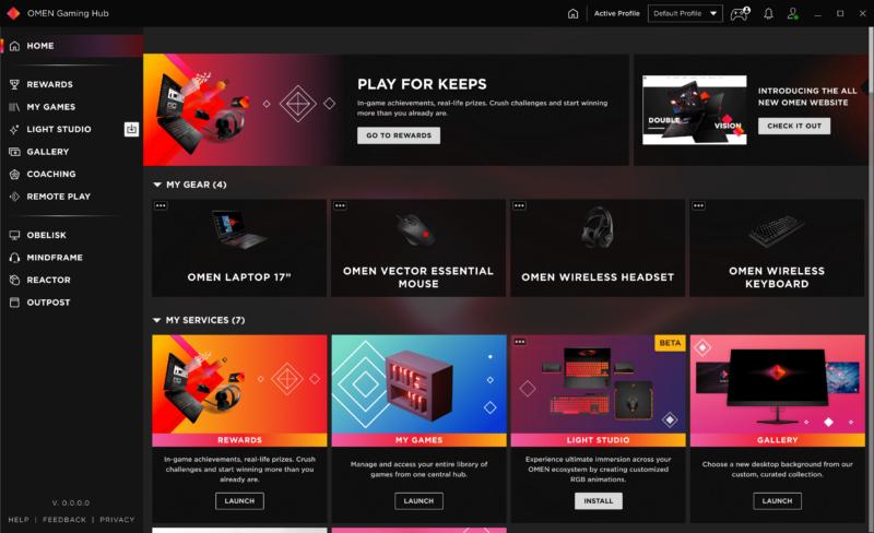 OMEN Gaming Hub Home 2.0