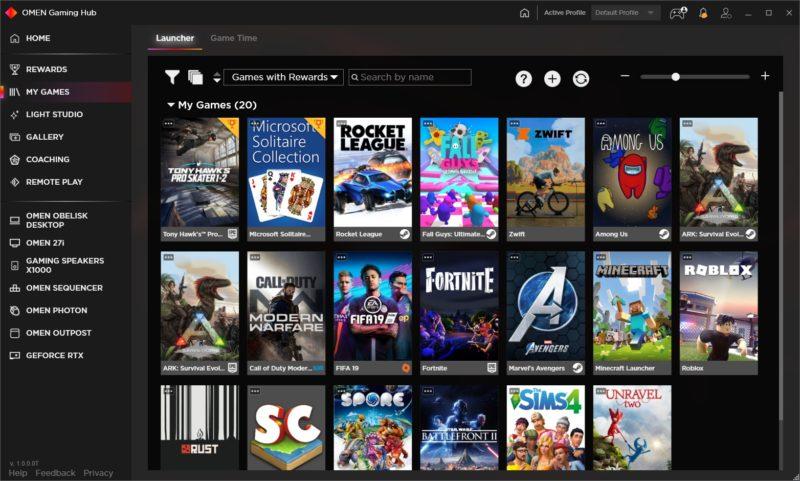 OMEN Gaming Hub My Games 3.0