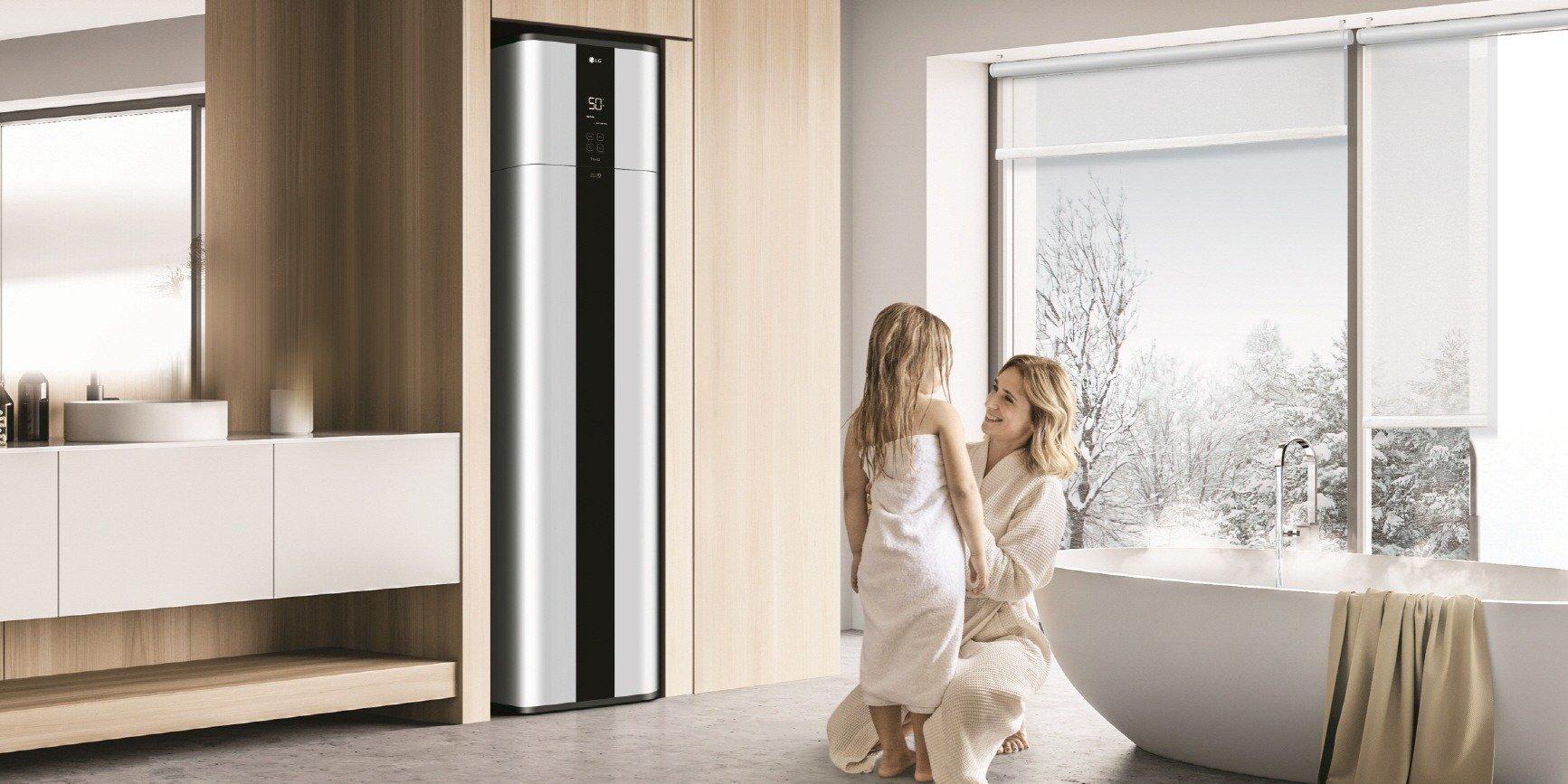 Wydajna i przyjazna dla środowiska pompa ciepła LG do ciepłej wody użytkowej, wyróżniona nagrodami za wzornictwo