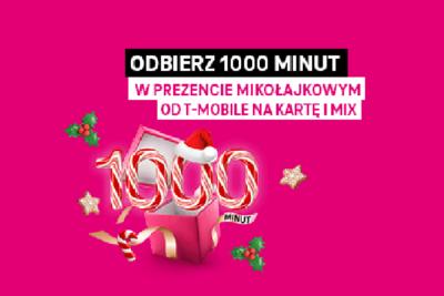 Mikołajkowe 1000 darmowych minut dla klientów T-Mobile na kartę i MIX