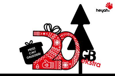 Odbierz świąteczne 20 gigabajtów w Heyah na kartę