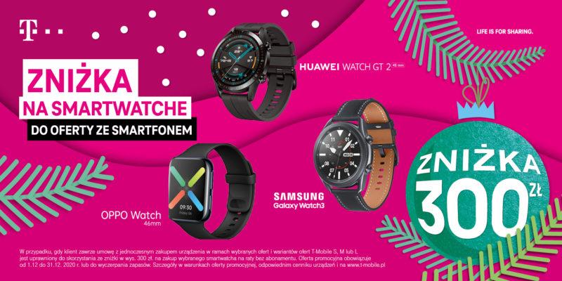 swiateczne smartwatche ze znizka 300 zl od t mobile i