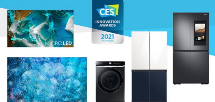 Samsung zdobywa 44 nagrody Innovation Award na targach CES 2021