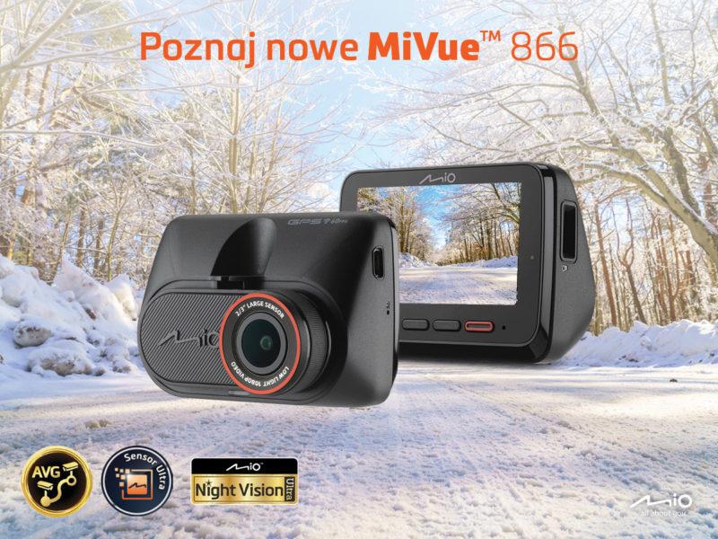 Mio MiVue 866 - pierwszy wideorejestrator z Night Vision Ultra