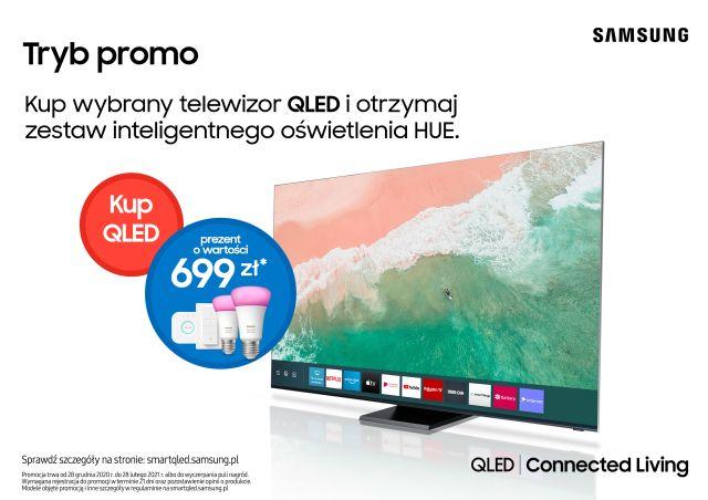 Kup telewizor QLED i odbierz zestaw inteligentnego oświetlenia Hue